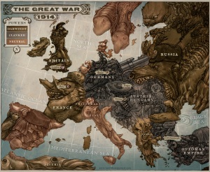 Map of Leviathan by Keith Thompson